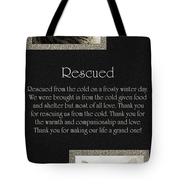 Rescued Tote Bag by Andee Design