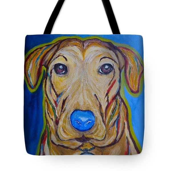 Tote Bag featuring the painting Rescued by Victoria Lakes