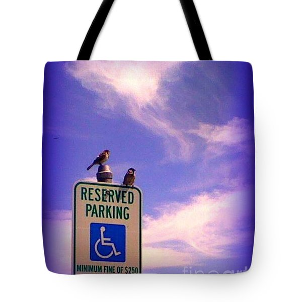 Reserved Tote Bag by Bobbee Rickard