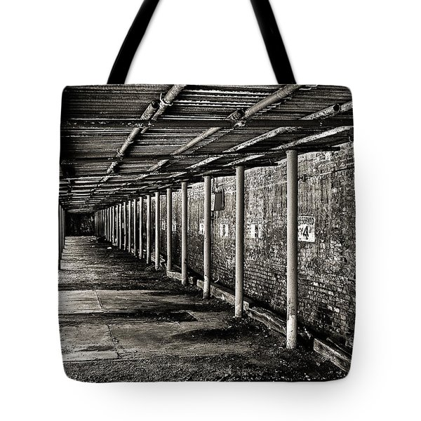 Tote Bag featuring the photograph Reserved Parking In Bw by Greg Jackson
