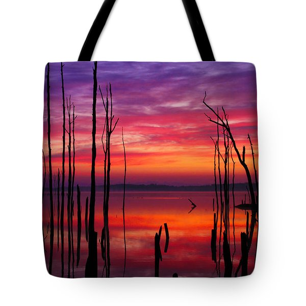 Reservoir At Sunrise Tote Bag