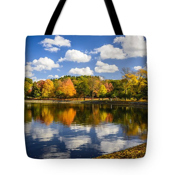 Reservoir In Autumn Tote Bag