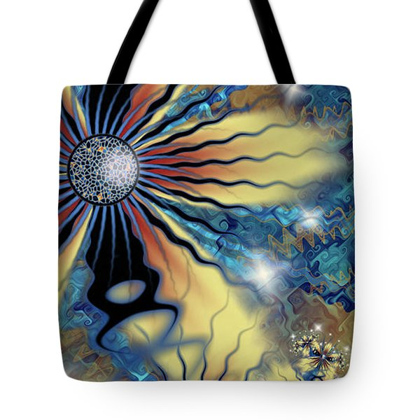 Tote Bag featuring the digital art Resilience by Kim Redd
