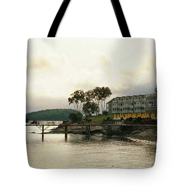 Tote Bag featuring the photograph Resort In Bar Harbor by Judith Morris