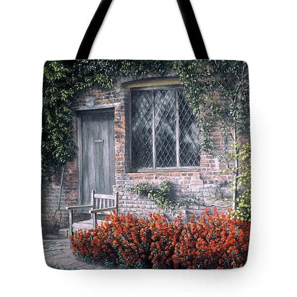 Tote Bag featuring the painting Rest Awhile by Rosemary Colyer
