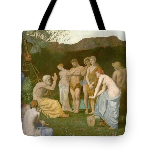 Rest Tote Bag by Pierre Puvis de Chavannes