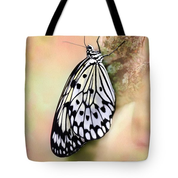 Restful Butterfly Tote Bag by Sabrina L Ryan