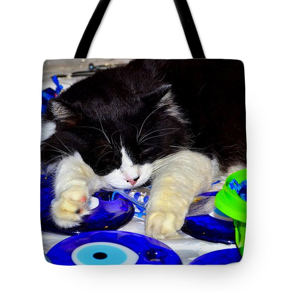 Resting At Work Tote Bag