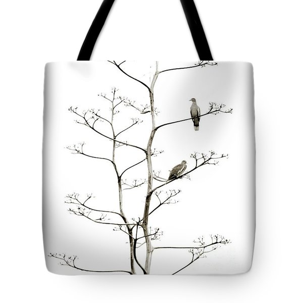 Resting Doves Tote Bag by Darla Wood
