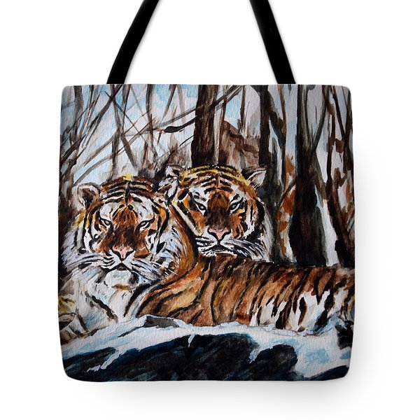 Tote Bag featuring the painting Resting by Harsh Malik