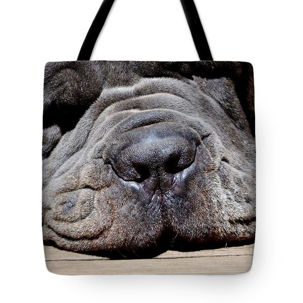 Resting His Wrinkles Tote Bag by Carlee Ojeda