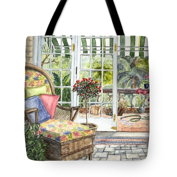 Resting On The Lanai Part 1 Tote Bag by Carol Wisniewski