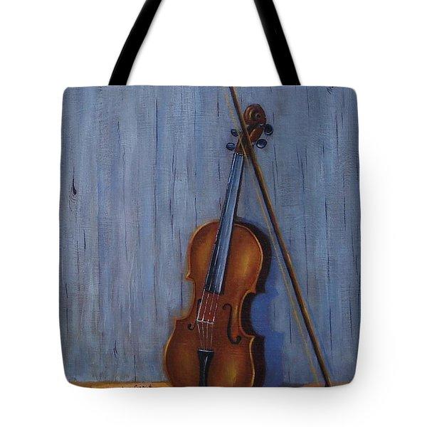 Resting Violin Tote Bag