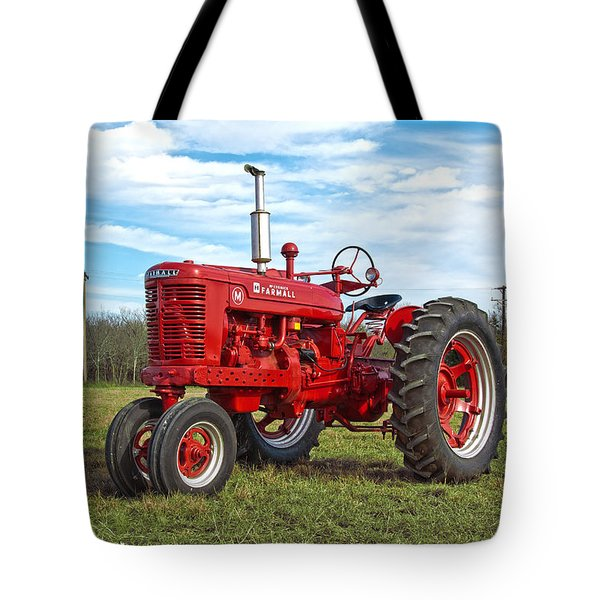 Restored Farmall Tractor Tote Bag