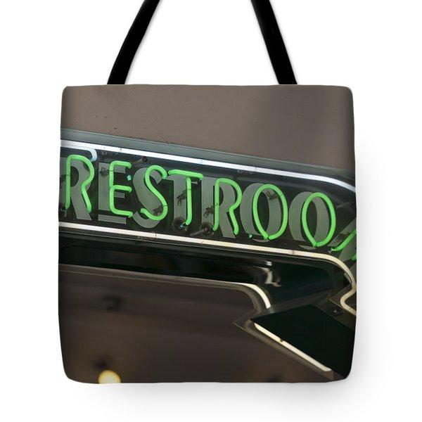 Restrooms In Neon Tote Bag