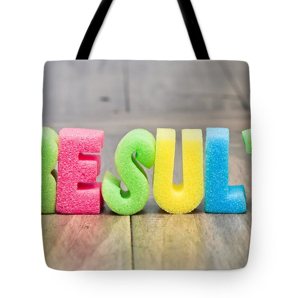 Result Tote Bag by Tom Gowanlock