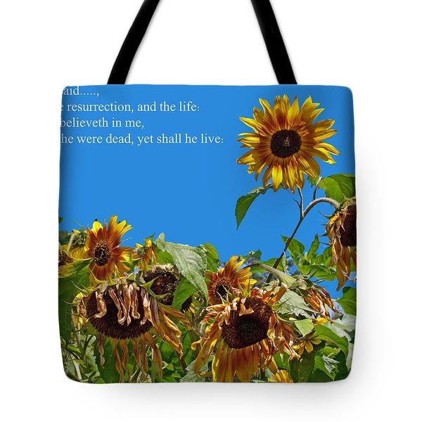 Resurrected Life Tote Bag by Tikvah's Hope