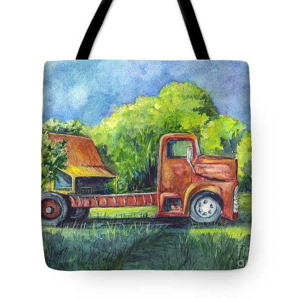 We Have Retired Here Tote Bag