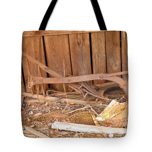 Tote Bag featuring the photograph Retired Tools by Nick Kirby