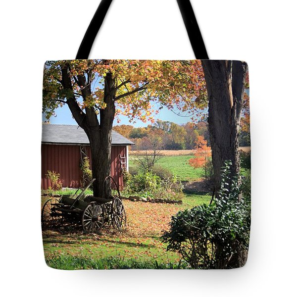Retired Wagon Tote Bag by Gordon Elwell
