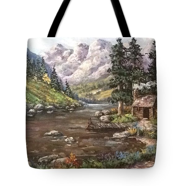 Tote Bag featuring the painting Retreat by Megan Walsh