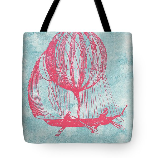 Retro Airship - Balloon Tote Bag