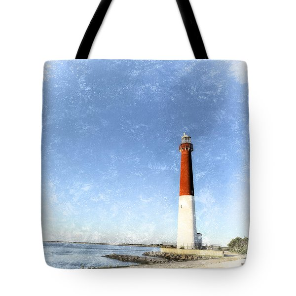 Retro Barnegat Lighthouse Barnegat Light New Jersey Tote Bag