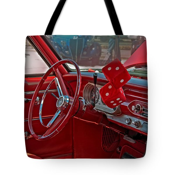 Retro Chevy Car Interior Art Prints Tote Bag