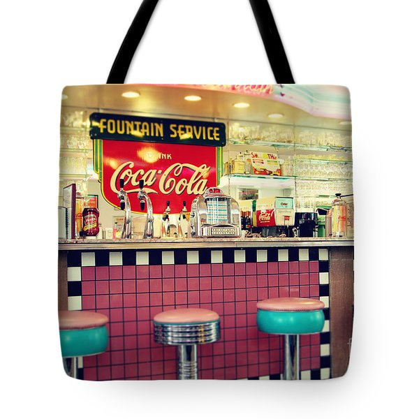 Retro Diner Tote Bag