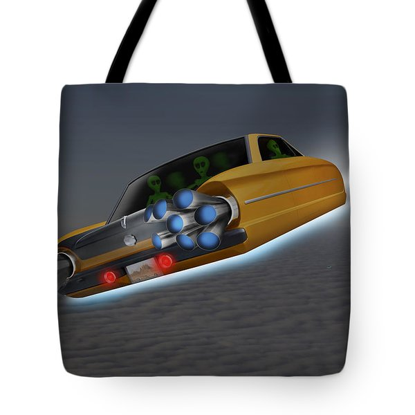Retro Flying Object 1 Tote Bag by Mike McGlothlen