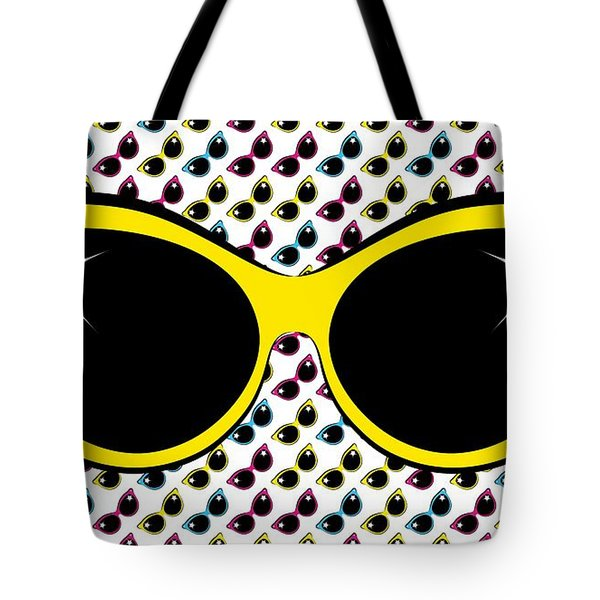 Retro Yellow Cat Sunglasses Tote Bag