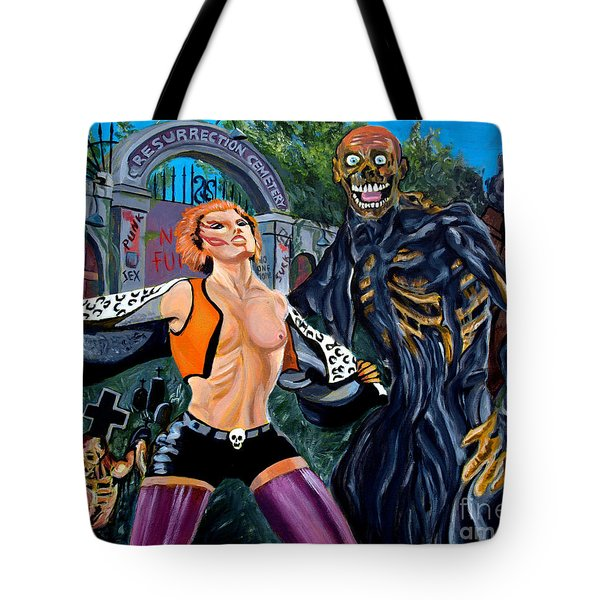 Return Of The Living Dead Tote Bag by Jose Mendez