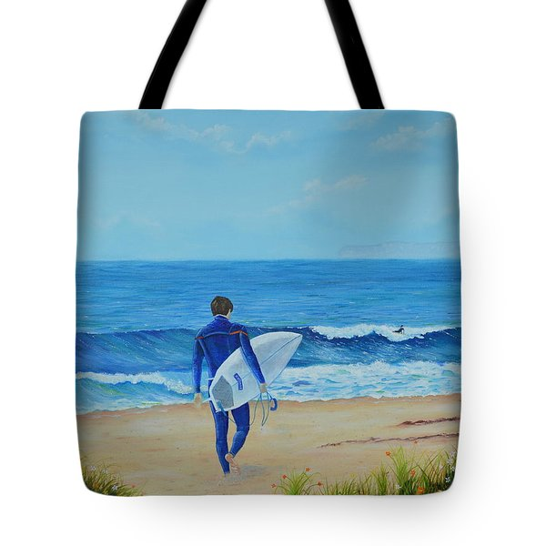 Returning To The Waves Tote Bag