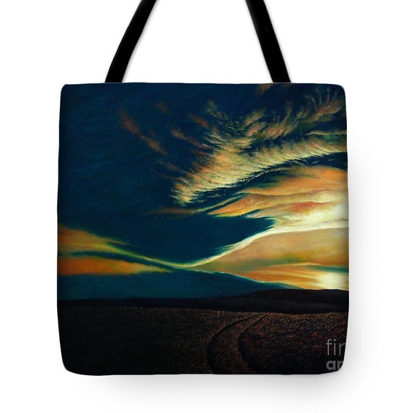 Returning To Tuscarora Mountain Tote Bag by Christopher Shellhammer