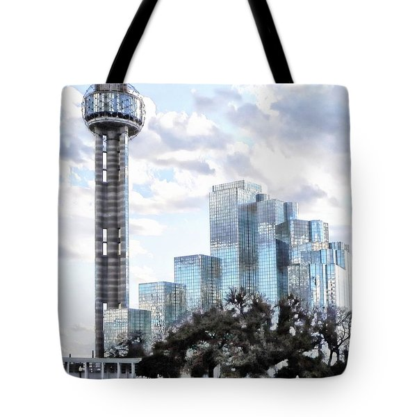 Reunion Tower Dallas Texas Tote Bag by Kathy Churchman