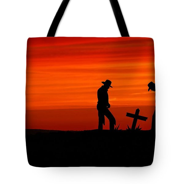 Cowboy Reverence Tote Bag