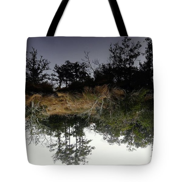 Reverse Reflection On A Crab Fishermans Canal Tote Bag
