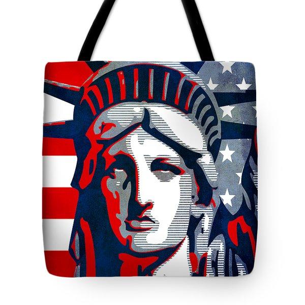 Reversing Liberty 1 Tote Bag by Angelina Vick