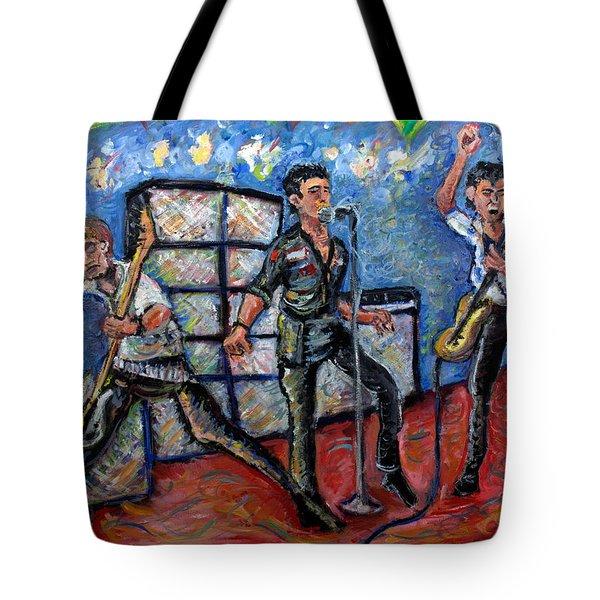 Revolution Rock The Clash Tote Bag by Jason Gluskin