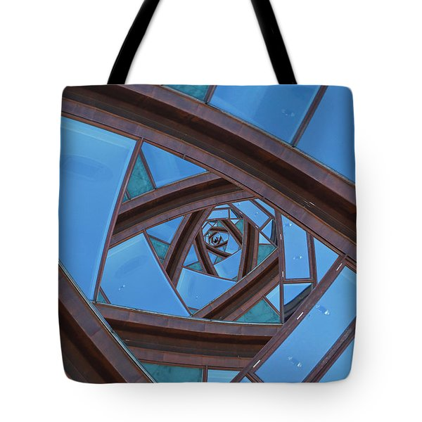 Revolving Blues. Tote Bag by Clare Bambers