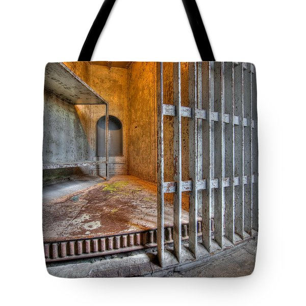 Revolving Jail Cell 1885 Tote Bag