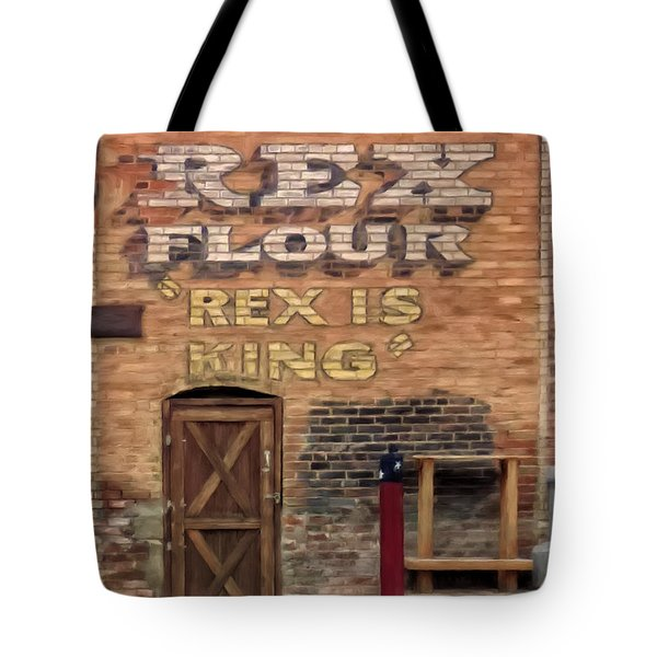 Tote Bag featuring the painting Rex Is King by Michael Pickett