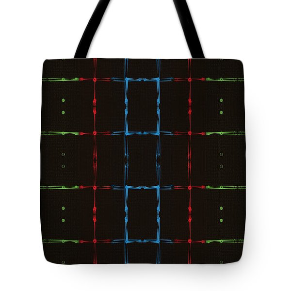 Rgb Network Tote Bag