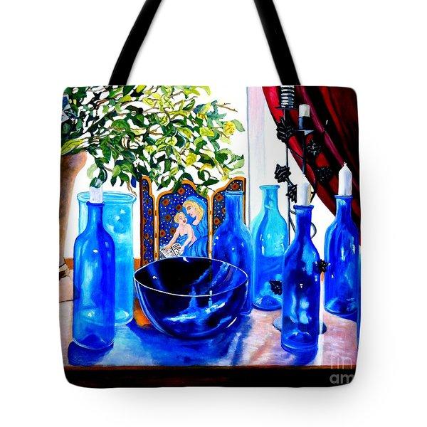 Rhapsody In Blue Tote Bag by Caroline Street