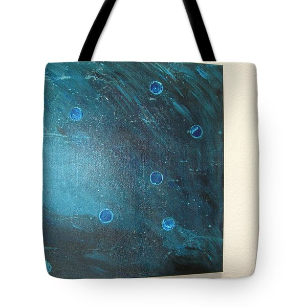 Tote Bag featuring the painting Rhapsody In Blue by Sharyn Winters