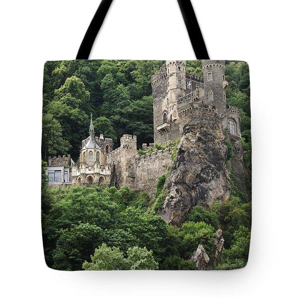 Rheinstein Castle Tote Bag by Oscar Gutierrez