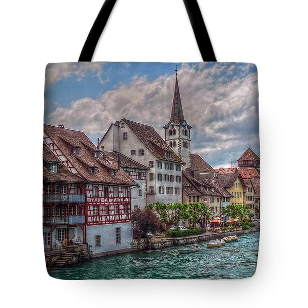 Tote Bag featuring the photograph Rhine Bank by Hanny Heim