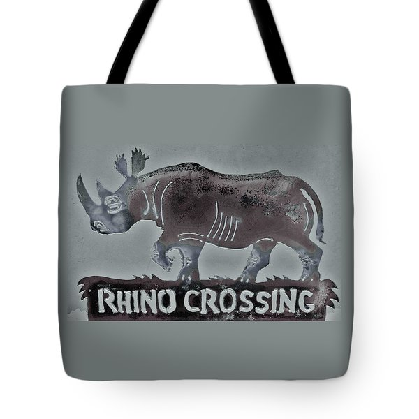 Tote Bag featuring the photograph Rhino Xiv by Larry Campbell