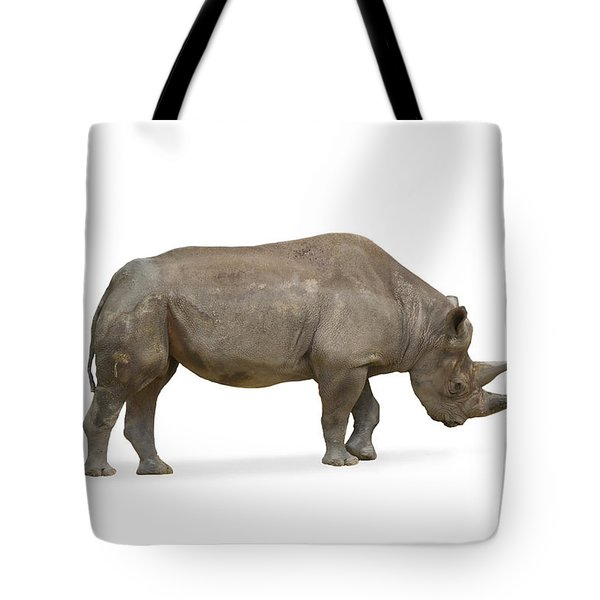 Tote Bag featuring the photograph Rhinoceros by Charles Beeler