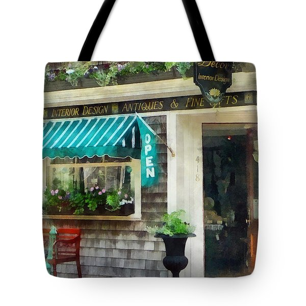 Tote Bag featuring the photograph Rhode Island - Antique Shop Newport Ri by Susan Savad